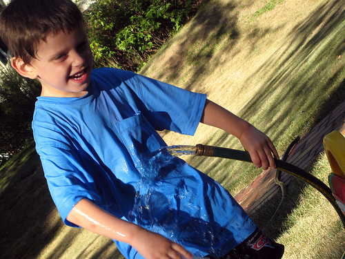 Picture of Boy with Waterhose